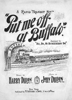 Put Me Off at Buffalo - Sheet music cover