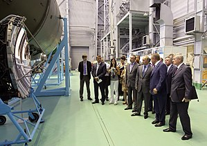 Energia (corporation) - Prime Minister Vladimir Putin in the museum of the Energia Rocket and Space Corporation