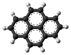 Pyrene - Image: Pyrene molecule from xtal ball