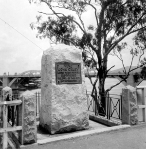 North Quay, Brisbane - Monument to commemorate the landing of John Oxley in 1823