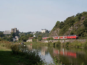 Lahn Valley Railway - Regionalbahn service in Runkel (August 2003)