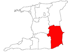 Location of Mayaro Rio Claro
