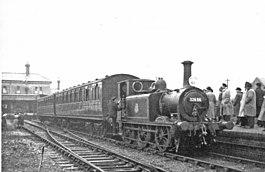 RCTS Rail Tour ĉe la antaŭa Kemp Town-stacio, 1952 (geografo 5129815).jpg