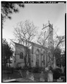 REAR VIEW OF CHURCH, FROM NORTHEAST - Unitarian Church, 6 Archdale Street, Charleston, Charleston County, SC HABS SC,10-CHAR,197-2.tif