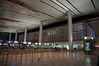 Rajiv Gandhi International Airport - Check-in area of the terminal