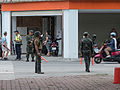 ROC Marines and Police Control Traffic in Fude 3rd Road 20140811.jpg