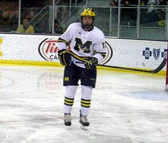 Zach Werenski - Werenski playing for the University of Michigan Wolverines in 2014.