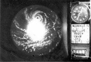 Typhoon Karen - Radar image of Typhoon Karen on November 8 as it was rapidly intensifying