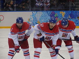 Ondřej Palát - Image: Radko Gudas, Ondřej Palát and Michael Frolík, 2014 Winter Olympics