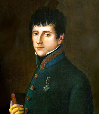 Rafael del Riego - Detail from an anonymous portrait of Rafael del Riego  (19th century).