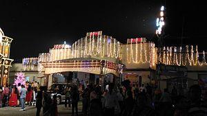 Raiganj railway station - Raiganj Station during diwali