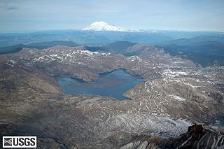 Spirit Lake (Washington) Lake in Skamania County, Washington, USA