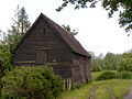 Raised wooden barn near Matrimony Farm - geograph.org.uk - 177746.jpg