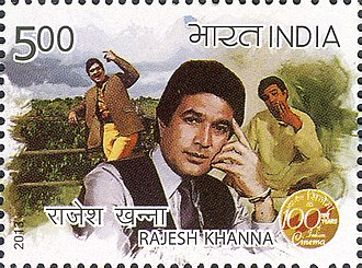 Rajesh Khanna - Khanna on a 2013 stamp of India