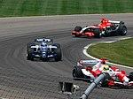Ralf Schumacher, Nico Rosberg and Tiago Monteiro 2006 Indianapolis.jpg