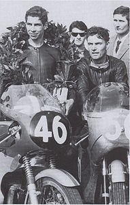 Ramón Torras and Jim Redman in Modena, 1963.jpg