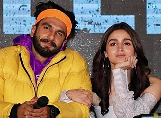 Alia Bhatt - Bhatt and co-star Ranveer Singh at the trailer launch of Gully Boy in 2019
