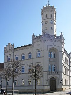 Meuselwitz Place in Thuringia, Germany