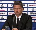 Razvan Lucescu, press conference FC Basel - PAOK FC, 1 August 2018.jpg