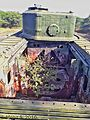 Rear engine compartment view of Churchill Tank. (31237506931).jpg
