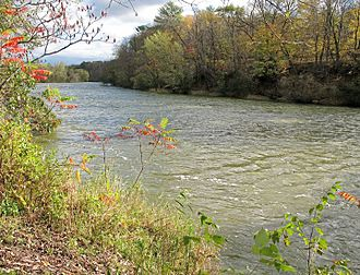 Red Cedar River (Wisconsin) - The Red Cedar River as viewed from the Red Cedar State Trail in Menomonie in 2007