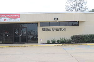 Lecompte, Louisiana - Red River Bank in Lecompte