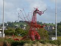 Red dragon sculpture on roundabout, Carmarthen.jpg