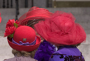 English: Red Hat Society Women of Victoria, BC...