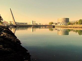 Pontevedra - Ria of Pontevedra, Congress Hall and Tirantes Bridge