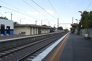 Regent railway station railway station in Reservoir, Melbourne, Victoria, Australia