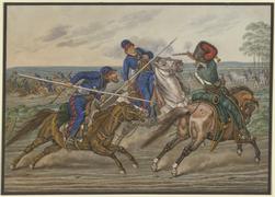 File:Reiterkampf zwischen Kosaken und Franzosen (SM 6833z).png