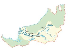 Rajang River - The Rajang drainage basin