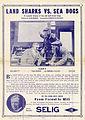 Release flier for LAND SHARKS VS. SEA DOGS, 1912.jpg