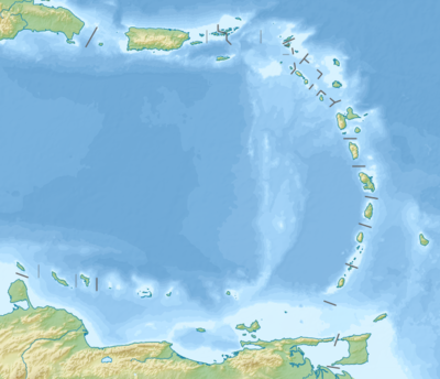 Location map Lesser Antilles