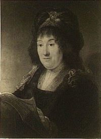 Rembrandt - Portrait of a Woman in Fantasy Costume holding a Book.jpg