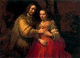 Rembrandt La novia judia 1667.jpg