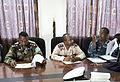 Representatives from Somalia, Sudan and Djibouti discuss operations during Cutlass Express 2013 at the Port of Djibouti in Djibouti Nov. 11, 2013 131111-F-NJ596-029.jpg