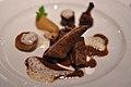Restaurant Le Jardin des Sens Due med stegt polenta og kompot af æble og vanille (5480972789).jpg
