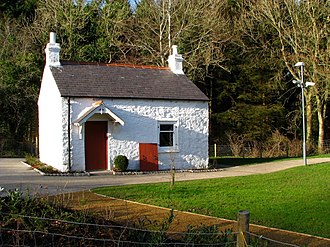 Lagan Canal - Kilpatrick Families lock-keeper's cottage near Shaw's Bridge, built 1827–34