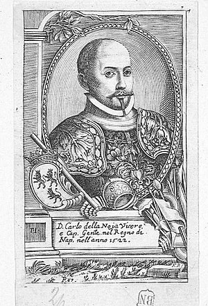 Charles de Lannoy, 1st Prince of Sulmona. - Engraving of Charles de Lannoy