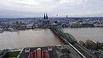 Rheinhochwasser 2018 in Köln KölnTriangel 02.jpg