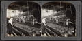 Ribbon loom weaving tubular silk neckties. Silk industry, South Manchester, Conn., U.S.A, by Keystone View Company.png