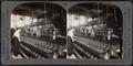 Ribbon loom weaving tubular silk neckties. Silk industry, South Manchester, Conn., U.S.A, by Keystone View Company.png