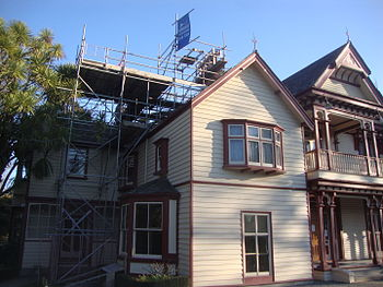 English: Riccarton House with scaffolding for ...