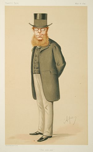 R. A. Cross, 1st Viscount Cross - R. A. Cross caricatured by Ape (Carlo Pellegrini) in 1874.
