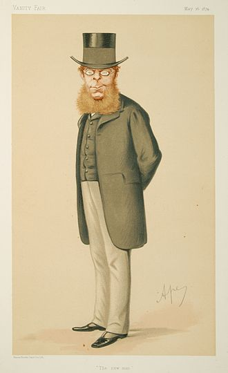 R. A. Cross, 1st Viscount Cross - R. A. Cross caricatured by Ape (Carlo Pellegrini) in 1874.