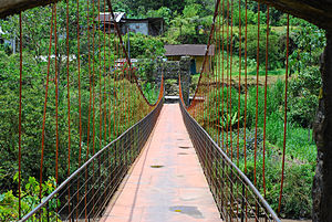 rickety suspension bridge