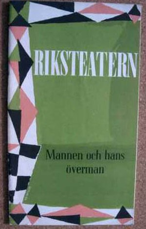 Riksteatern - Playbill for the production of Man and Superman by George Bernard Shaw, Riksteatern, 1960