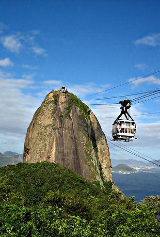 Rio de Janeiro bid for the 2016 Summer Olympics - Image: Rio de Janeiro Pão de Açucar Cablecar (resampled and denoised)