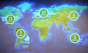 Rio de Janeiro bid for the 2016 Summer Olympics - Image: Rio de Janeiro 2016 bid presentations map